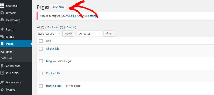 """create-wordpress-page """"width ="""" 740 """"height ="""" 329 """"class ="""" alignnone size-full wp-image-229207 """"srcset ="""" https://www.isitwp.com/wp-content/uploads/2019/ 02 / create-wordpress-page.jpg 740w, https://www.isitwp.com/wp-content/uploads/2019/02/create-wordpress-page-300x133.jpg 300w """"tamaños ="""" (ancho máximo: 740px) 100vw, 740px """"></p> <p>Ahora copie el contenido de su antiguo sitio de creación de sitios web GoDaddy que guardó anteriormente y péguelo en el editor de WordPress. </p> <p><img loading="""
