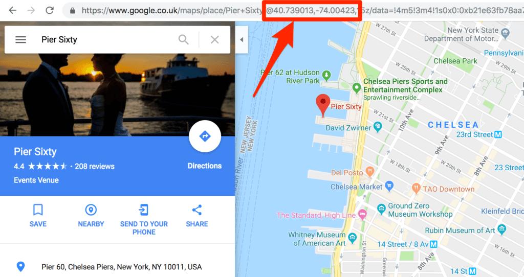 Encontrar ubicación en Google