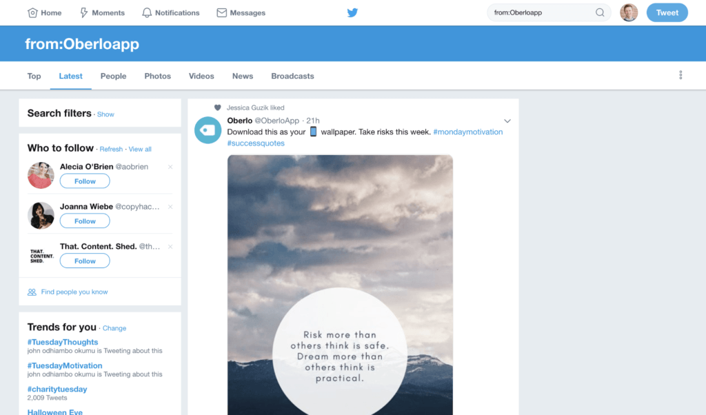 Twitter  Operador de búsqueda