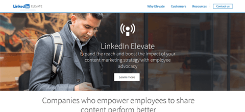 Herramientas de promoción de empleados de LinkedIn Elevate