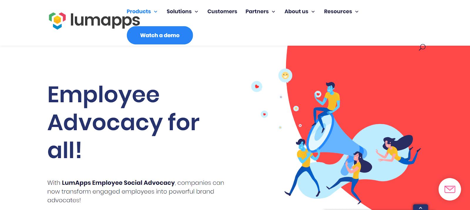 Herramientas de defensa de empleados de LumApps