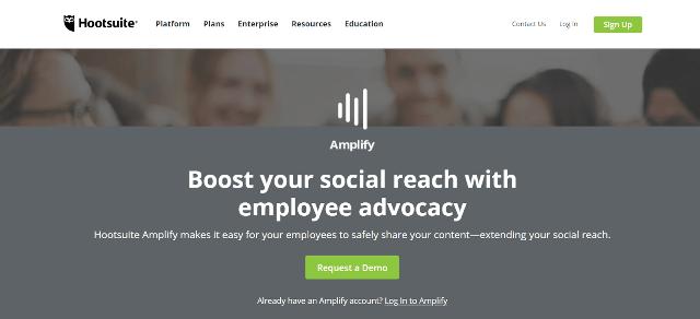 Herramientas de defensa de los empleados de Hootsuite Amplify