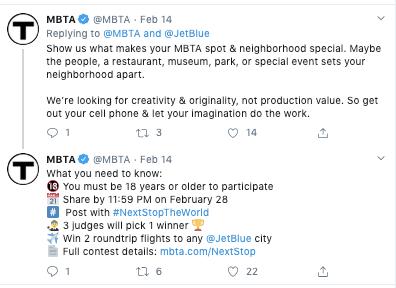 MBTA Día de San Valentín Tweet falla