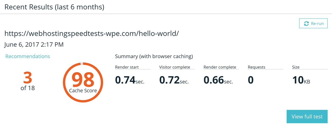 WP Engine Page Herramientas de rendimiento
