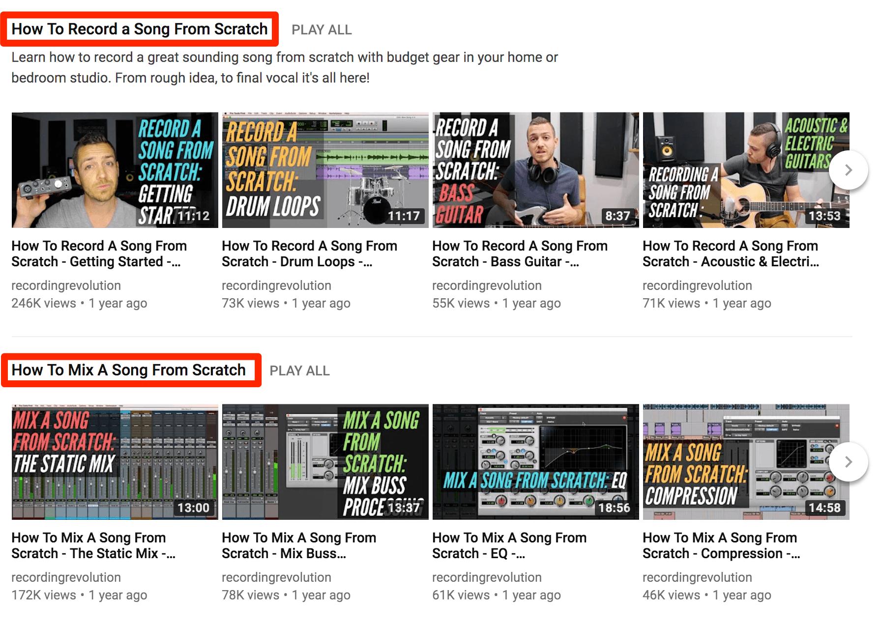 Videos instructivos de YouTube