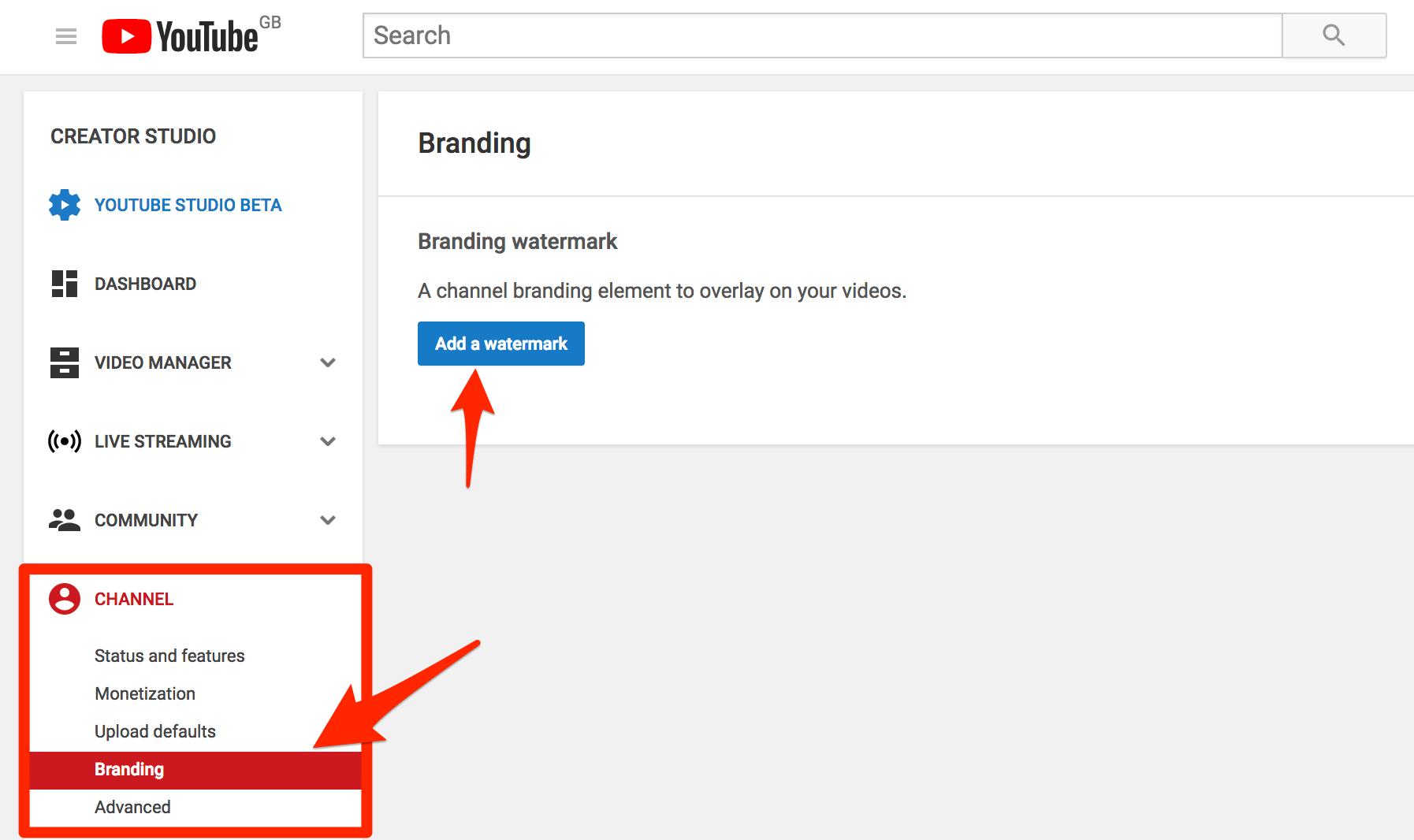 Agregar marca de agua de YouTube