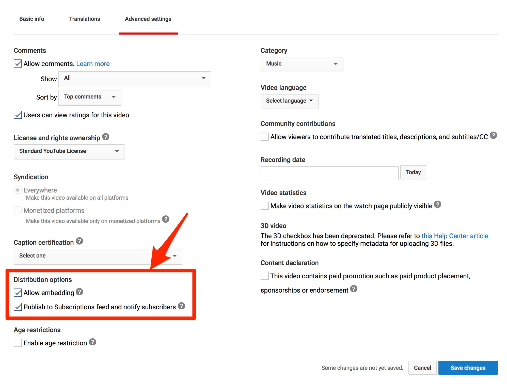 Permitir incrustación de video de YouTube
