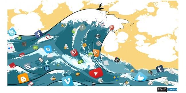 tsunami de contenido