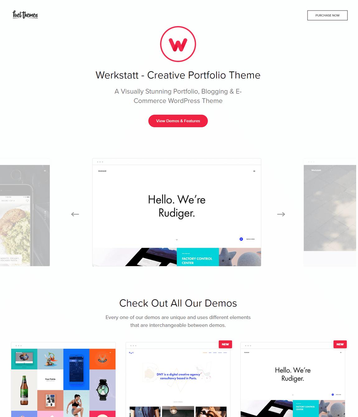 Werkstatt Portfolio Temas de WordPress