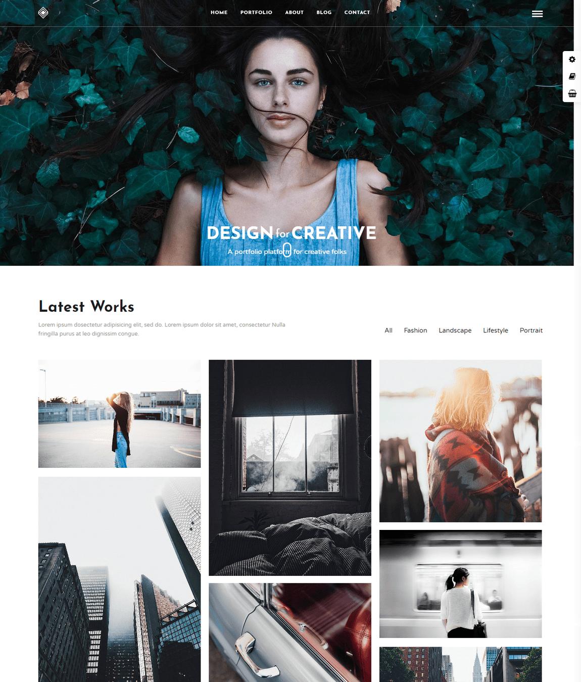 Gran Portafolio Temas de WordPress