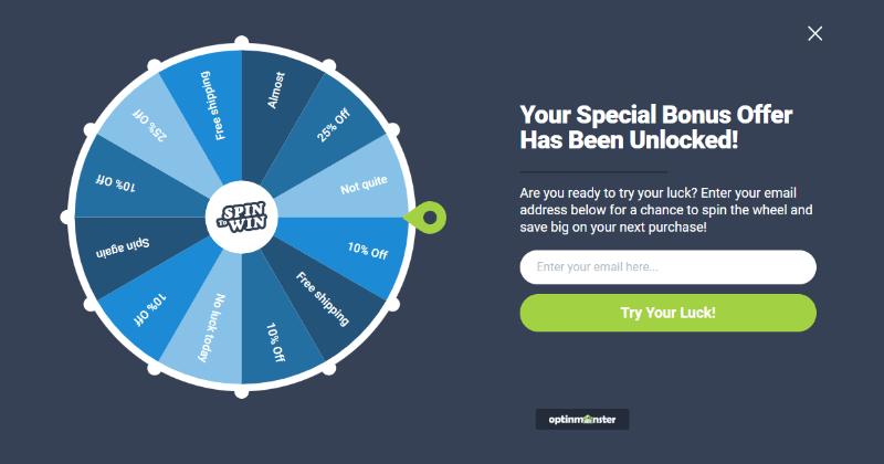 Gire para ganar la plantilla de la rueda para la campaña gamified optin