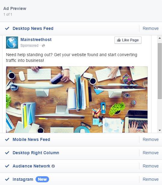Facebook  Feed de noticias de Ad Desktop