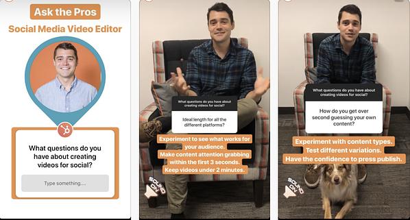 HubSpot Instagram Story con Swipe ups