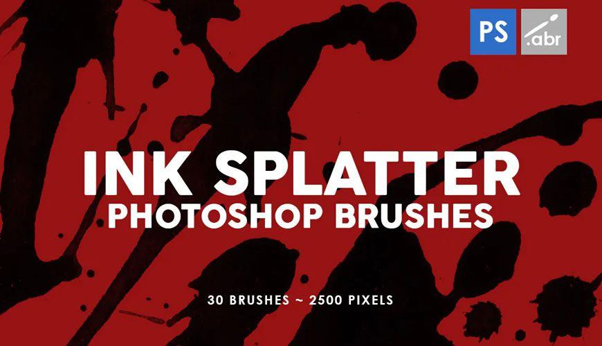 Stemple blekk-sølfri Photoshop-børste