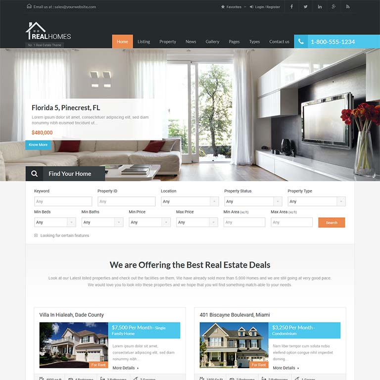 """""""Real-homes-real-state-WordPress-themes"""