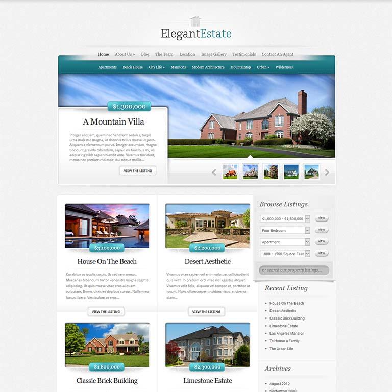 """elegantEstate-real-estate-WordPress-themes"