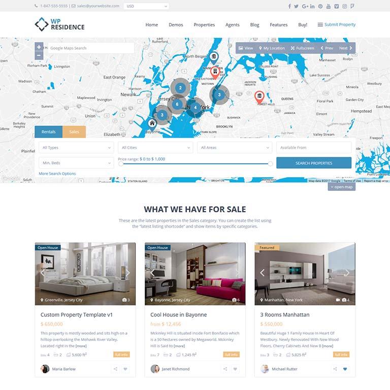"""""""WPresidence-real-estate-WordPress-themes"""