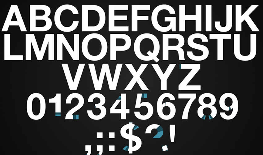 tipo de texto fuente tipografía animación ae adobe plantilla de efectos diseño de movimiento archivos de proyecto video película gratis