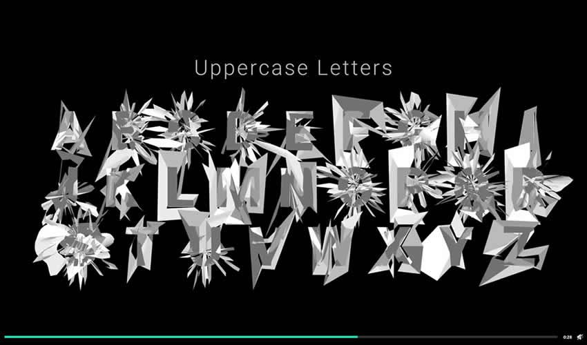 tipo de texto fuente tipografía animación ae adobe plantilla de efectos diseño de movimiento archivos de proyecto video película