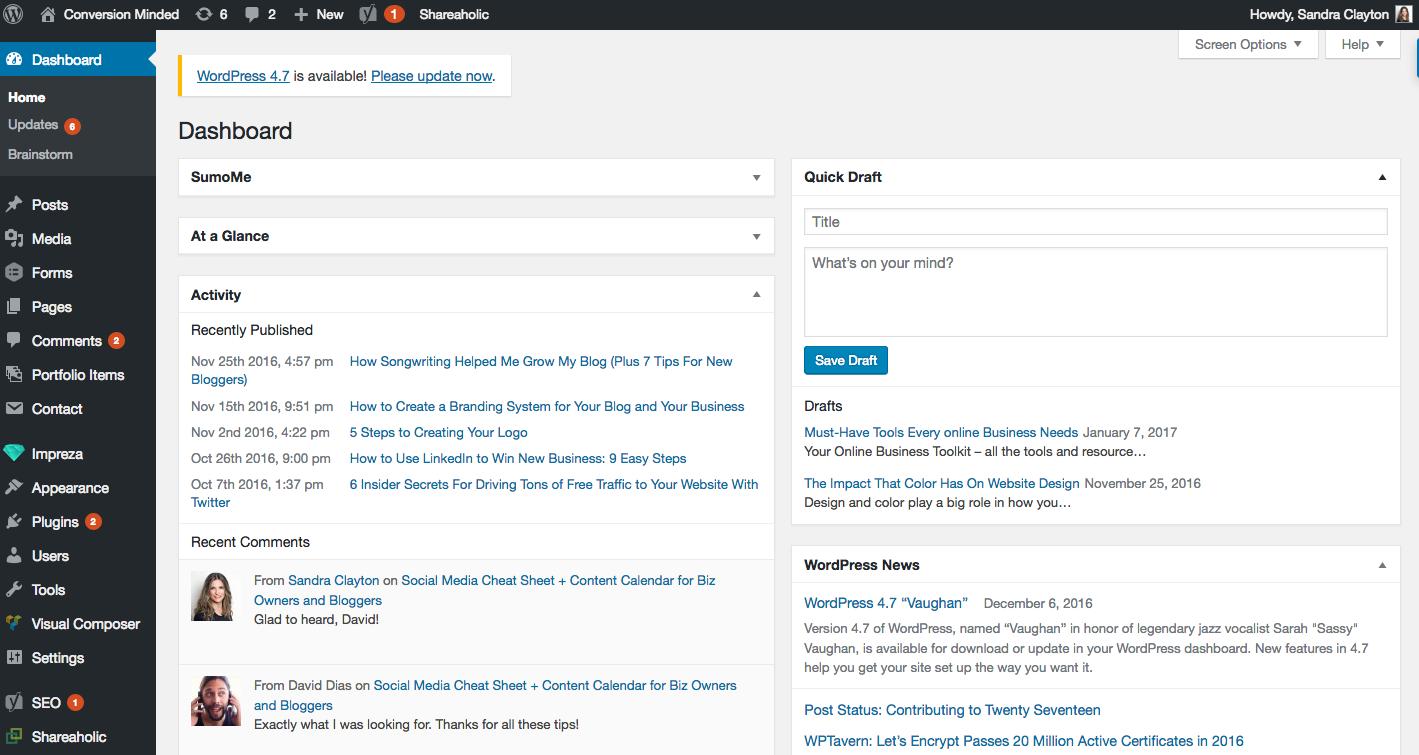 como crear un blog con wordpress