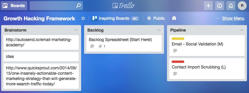 trello growth hacking