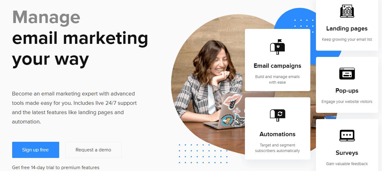 Herramienta de marketing por correo electrónico MailerLite