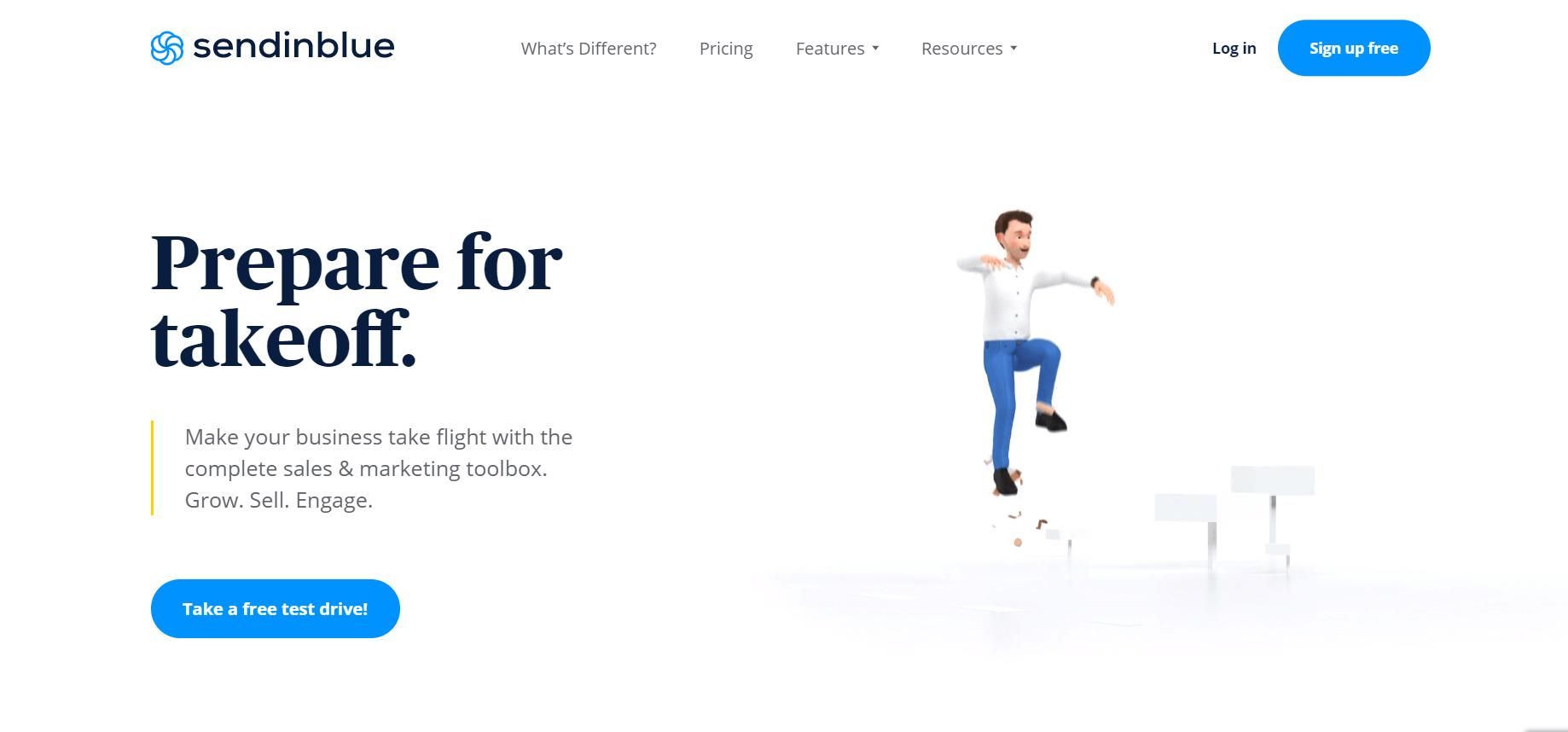 Plataforma de marketing por correo electrónico SendinBlue