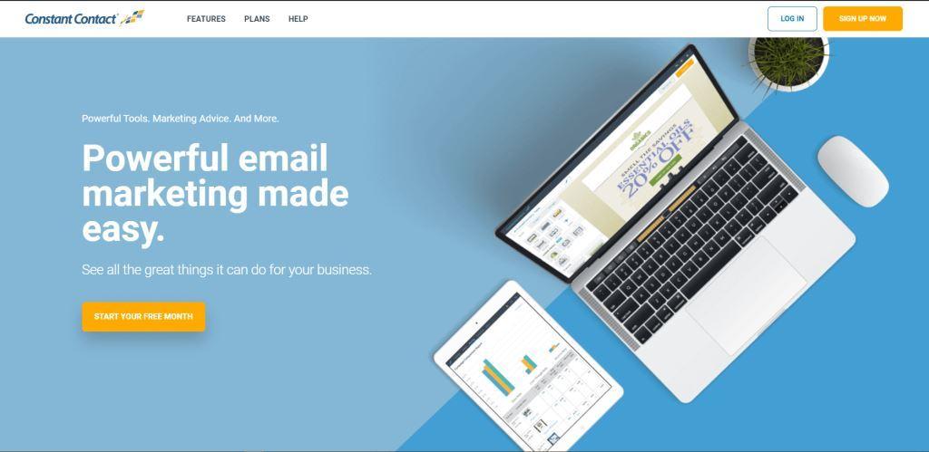 Herramienta de marketing por correo electrónico de contacto constante