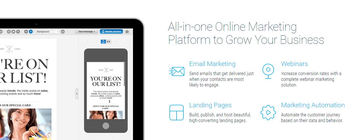 Software de marketing por correo electrónico GetResponse