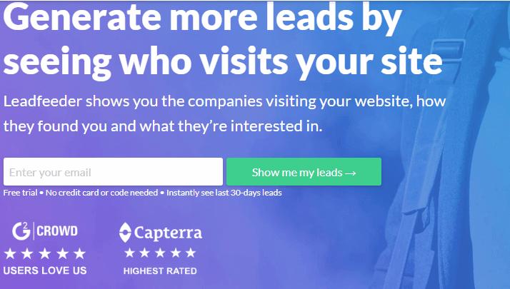 Software de marketing por correo electrónico Leadfeeder