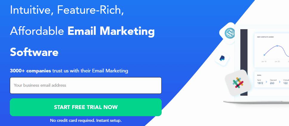 SendX email marketing platform