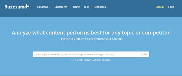 Herramientas de investigación competitivas de BuzzSumo