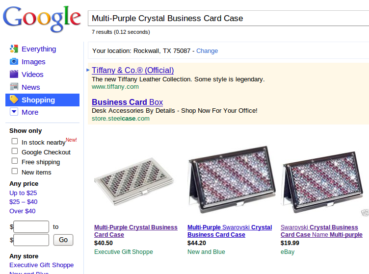 Estuche para tarjetas de visita de cristal multicolor