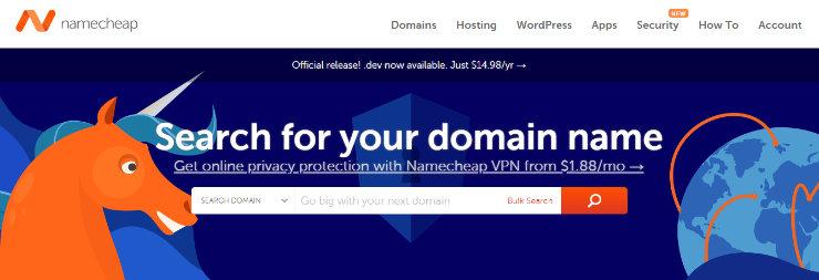 """namecheap-blog-name-generator """"width ="""" 740 """"height ="""" 253 """"class ="""" alignnone size-full wp-image-230452 """"srcset ="""" https://www.isitwp.com/wp-content/uploads/ 2019/03 / namecheap-blog-name-generator.jpg 740w, https://www.isitwp.com/wp-content/uploads/2019/03/namecheap-blog-name-generator-300x103.jpg 300w """"tamaños = """"(ancho máximo: 740 px) 100vw, 740 px""""></p> <p>NameCheap.com es otro de los mejores generadores de nombres de blog disponibles. Esta herramienta es mejor si ya tienes un nombre de blog en mente. Puedes escribir el nombre del blog que estás pensando usar y NameCheap te dirá si el nombre de dominio está disponible. </p> <p>Si su nombre de dominio preferido ya está en uso, NameCheap le dará opciones para las extensiones de nombre de dominio que están disponibles. Por ejemplo, si Fishing.com ya está en uso, esta herramienta le dará ideas como Fishing.online o Fishing.fun. Sin embargo, recomendamos seguir con la extensión .com porque es la más conocida, confiable y fácil de recordar. </p> <p>Si encuentra el nombre del blog que desea y está disponible, puede agregarlo a su carrito y comprarlo de inmediato. </p> </p> <h3>7. DomainWheel</h3> <p><img loading="""