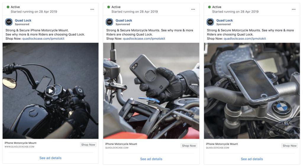 Serrure Quad Facebook Test de division des annonces