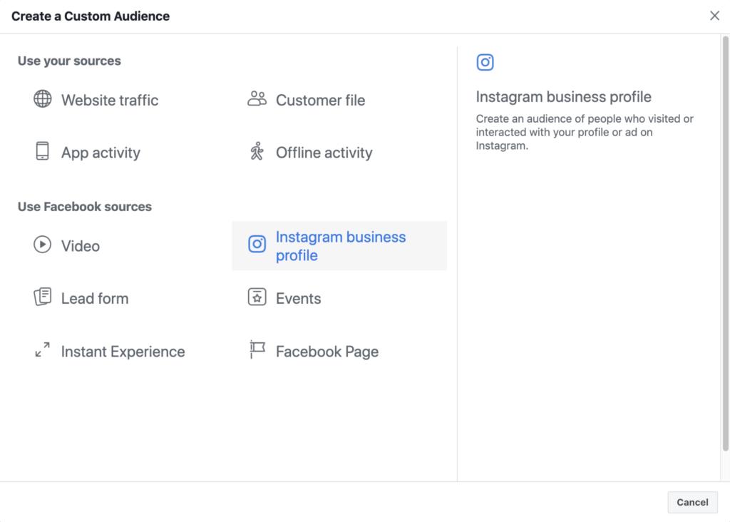 Facebook    Retargeting des annonces