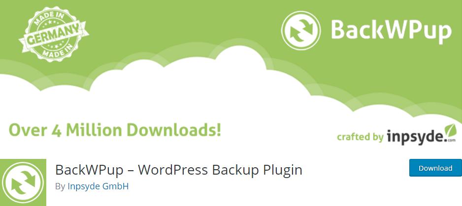 """BackWPup-best-WordPress-Backup-Plugin """"width ="""" 938 """"height ="""" 420 """"srcset ="""" https://themegrill.com/blog/wp-content/uploads/2017/06/BackWPup-best-WordPress-Backup -Plugin.png 938w, https://themegrill.com/blog/wp-content/uploads/2017/06/BackWPup-best-WordPress-Backup-Plugin-300x134.png 300w, https://themegrill.com/blog /wp-content/uploads/2017/06/BackWPup-best-WordPress-Backup-Plugin-768x344.png 768w """"tamaños ="""" (ancho máximo: 938px) 100vw, 938px """"></p> <p><strong>BackWPup</strong> es probablemente el <strong>mejor complemento de copia de seguridad de WordPress</strong> disponible. Con más de <strong>500,000</strong> instalaciones activas, la versión gratuita del complemento es la más popular de su tipo en el repositorio oficial de complementos de WordPress. Básicamente es un complemento freemium que tiene versiones gratuitas y premium.</p> <p>El complemento le permite hacer una copia de seguridad de todos los datos de su sitio web para que pueda revivir su sitio instantáneamente después de que se bloquee. Cuenta con respaldo de base de datos, respaldo de archivos, WP XML Export, genera un archivo con complementos instalados, optimiza, verifica y repara bases de datos, etc. Además, puede usar servicios de respaldo externos como etc.</p> <p><strong>Pros:</strong></p> <ul> <li><strong>Simple y fácil de usar</strong></li> <li>Incluso la versión gratuita del complemento tiene muchos <strong>características asombrosas</strong>. La versión premium viene con soporte extra potente.</li> </ul> <p><strong>Contras:</strong></p> <ul> <li>La versión premium del complemento parece comparativamente <strong>más caro que VaultPress</strong>. El plan """"estándar"""" para costos de sitio único <strong>$ 69</strong> por un año.</li> </ul> <h4>2. VaultPress (GRATIS + Premium)</h4> <p><img class="""