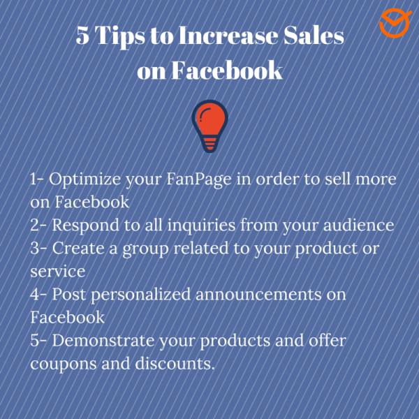 5 consejos para aumentar las ventas en Facebook