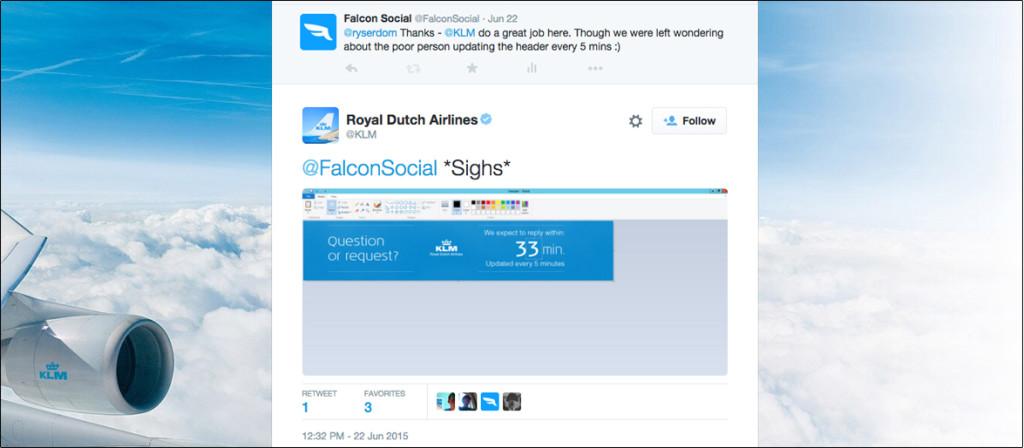 Tácticas de redes sociales de KLM