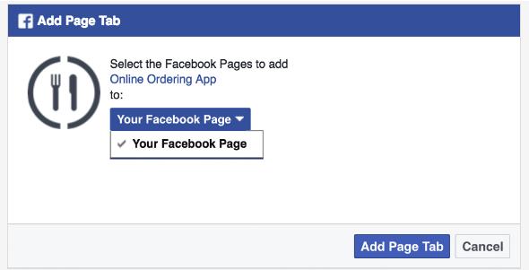 Facebook  comercialización para restaurantes