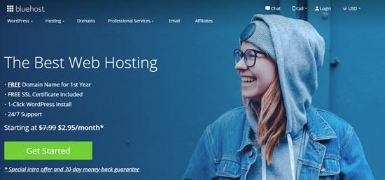 Sitio web de Bluehost