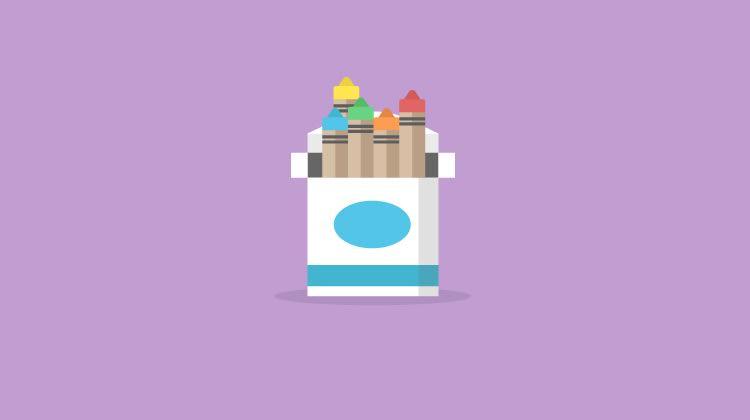 Icono de lápices de colores: cómo el color afecta las imágenes, los anuncios y las páginas de destino de las marcas: publicidad disruptiva