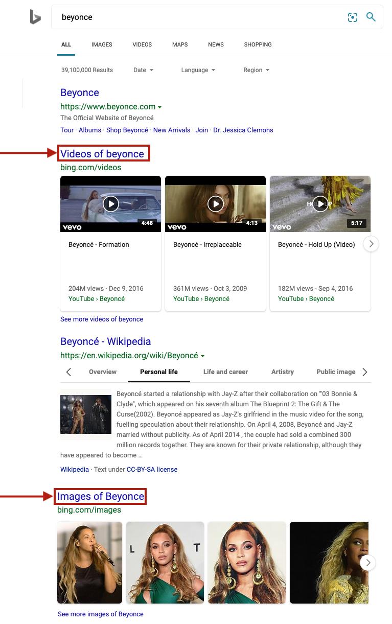 Cómo funciona el algoritmo de imagen y video de Bing