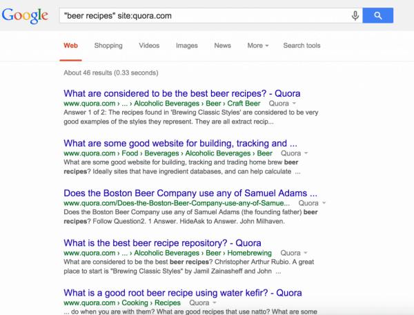 búsqueda de google para recetas de cerveza en quora