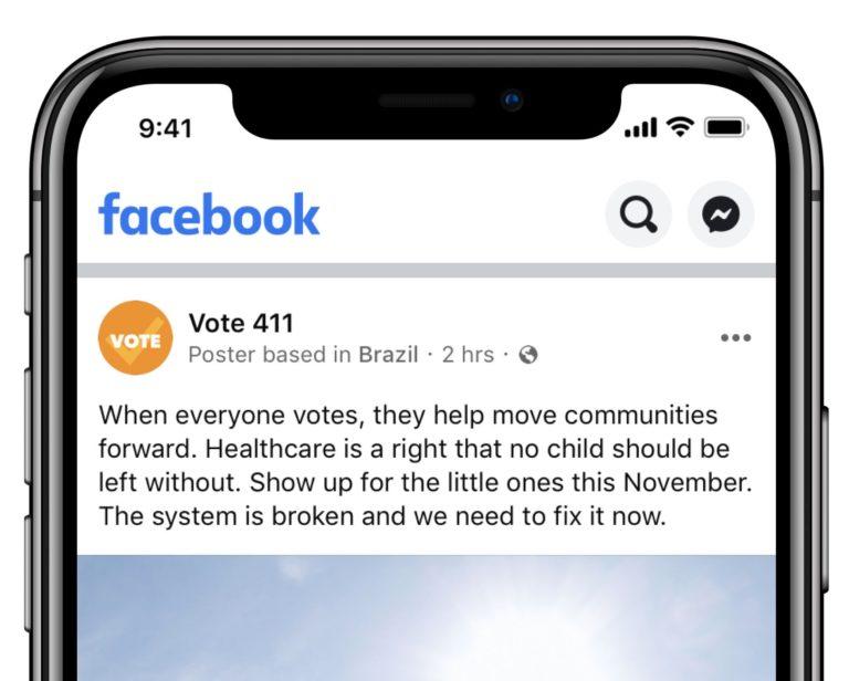 Facebook    E Instagram populyar səhifələrin haradan göndərildiyini göstərmək