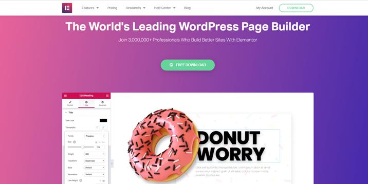 Elementor es el creador de páginas más popular para WordPress