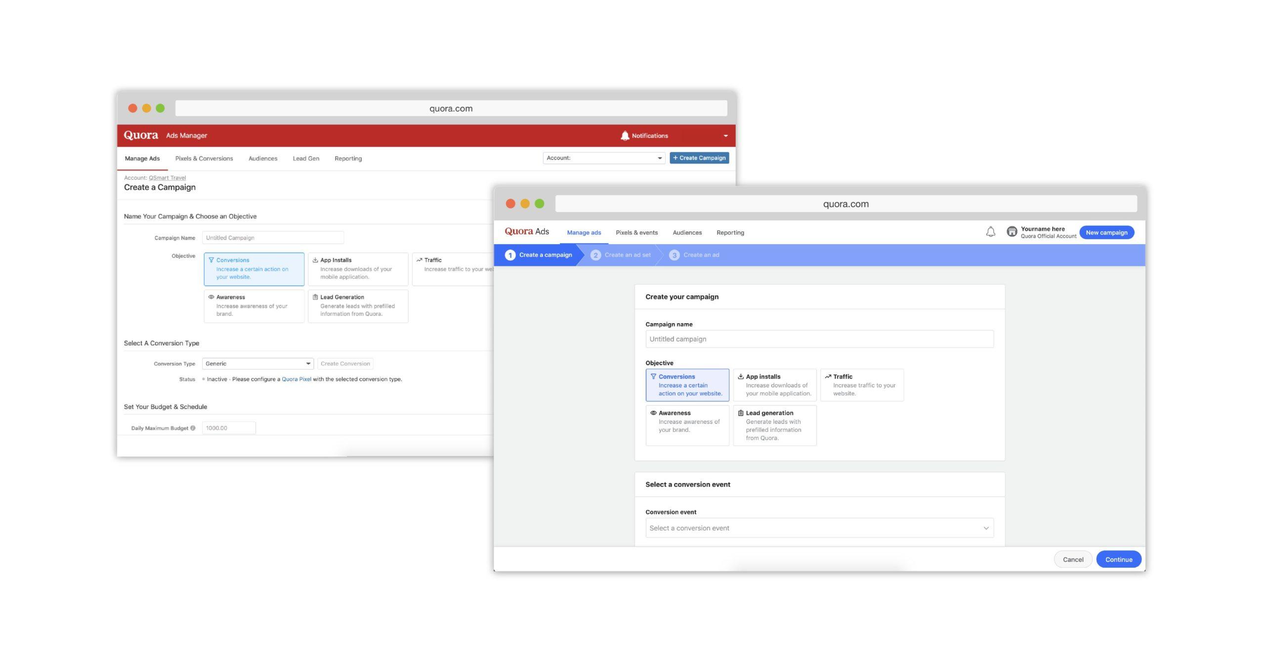 Quora renueva la interfaz del administrador de anuncios