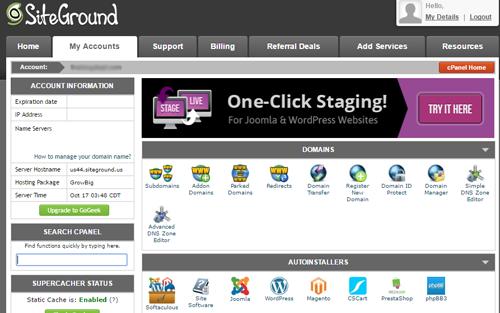 SitePanel cPanel