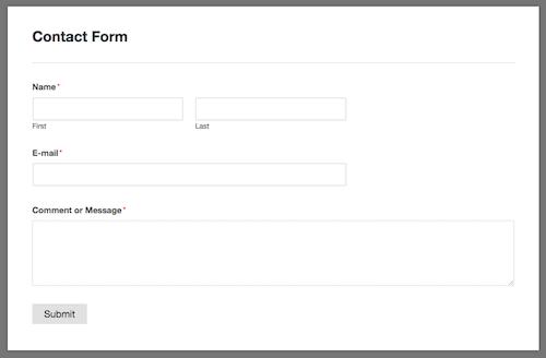 Formulario de contacto de WPForms