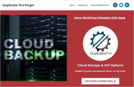Duplicator Pro plugin para WordPress